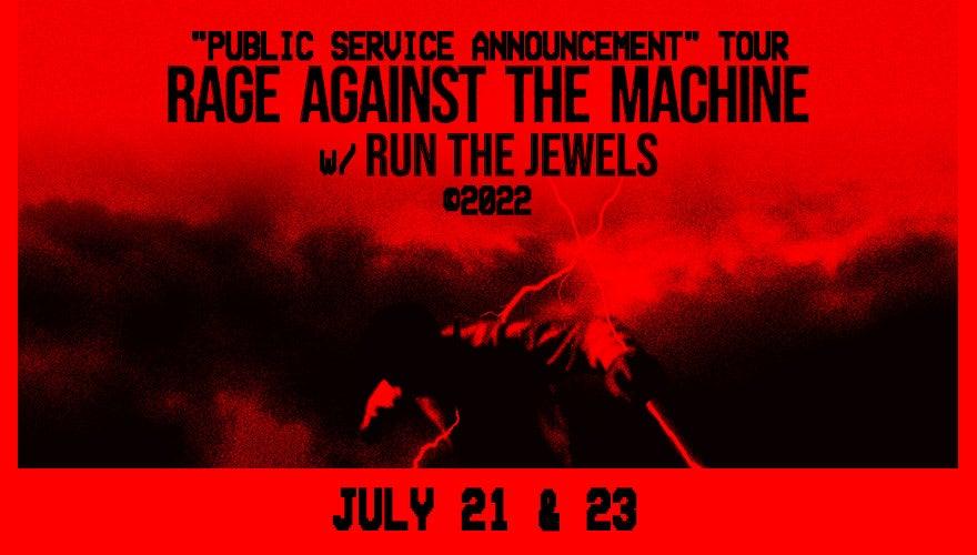 RESCHEDULED: Rage Against The Machine