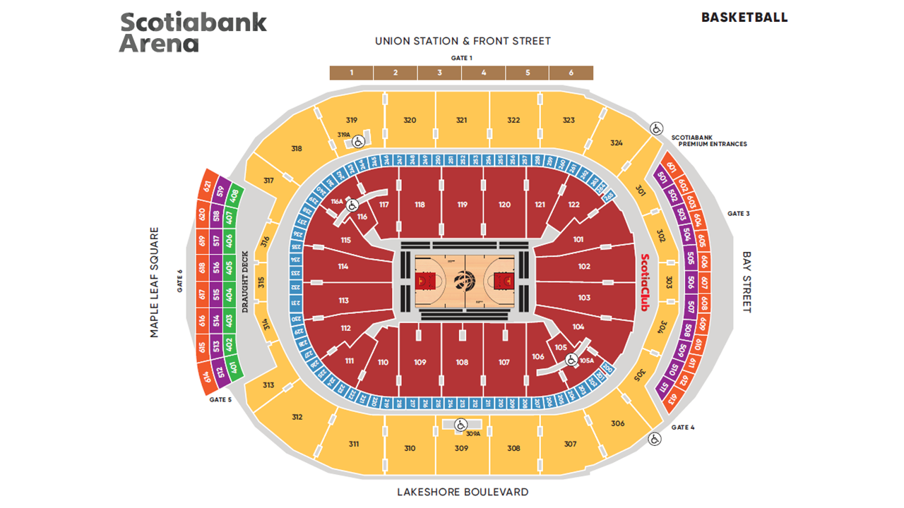 3D Seating / Maps | Scotiabank Arena